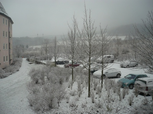 Blick vom ArbZimmer i.d. Winter