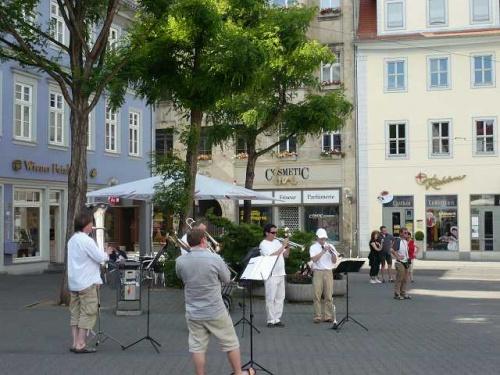 ERFURT - Fischmarkt Straßenmusikanten