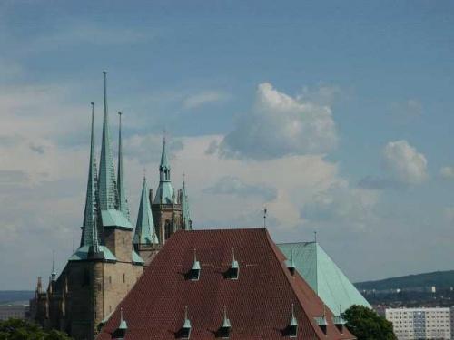 ERFURT Dom und Severikirche r?ckseitig