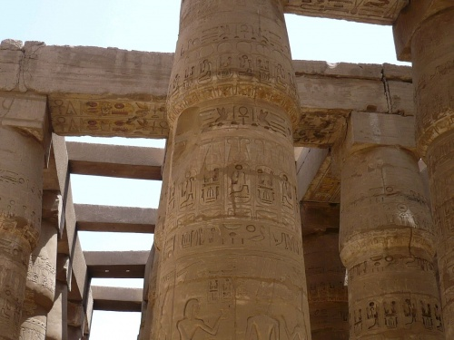 84 Luxor Karnak-Tempel Säulenhalle