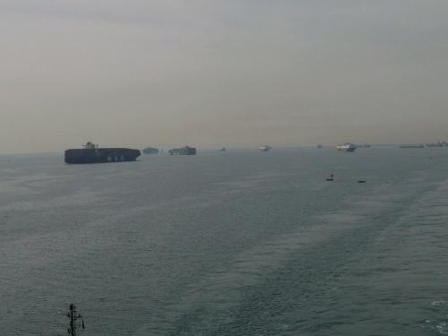 121 SUEZ - KANAL Einfahrt vom Roten Meer