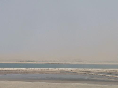131 SUEZ - KANAL - Durchfahrt - Sandsturm