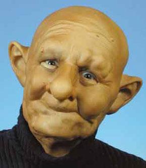 Alter zahnloser Mann