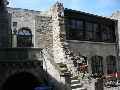 Innenhof der Rudelsburg