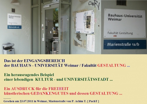 KURIOSES 35 BauhausUni Weimar