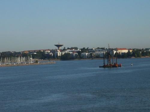 Blick vom Schiff auf Helsinki