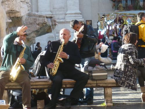127 ROM Straßenmusikanten