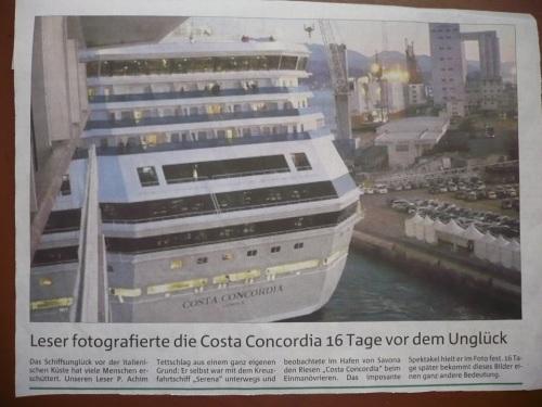 PresseFoto in TA _ Costa CONCORDIA 28.12.11