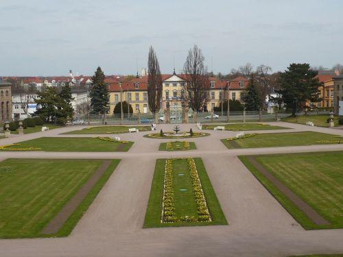 Gotha  Park vor Orangerie