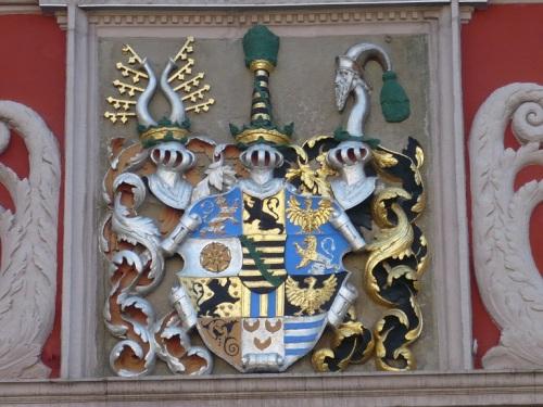 Gotha 02 Wappen am Rathaus
