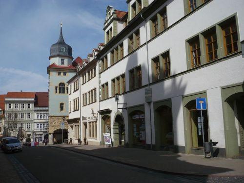 Gotha 10 Blick zum Hauptmarkt