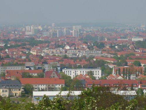 Blick auf ERFURT vom Steigerwald
