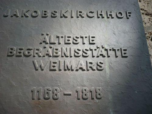 Weimar Jakobskirche m. Friedhof 13