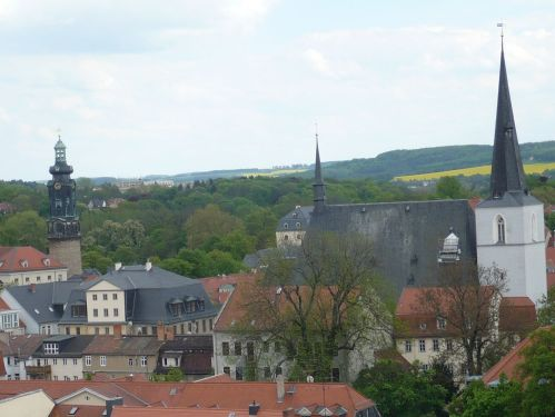 Weimar Jakobskirche m. Friedhof 11 Blick von Turm