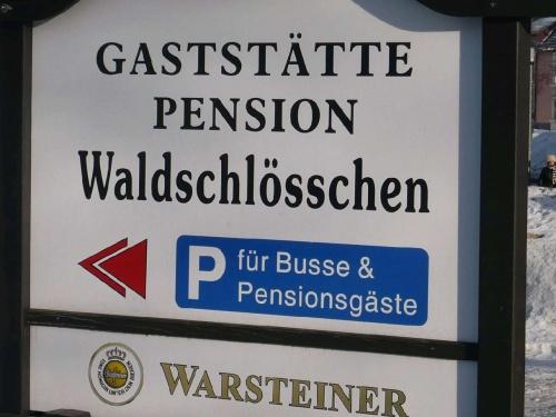 Parkplatz für Pensionsgäste Oberhof
