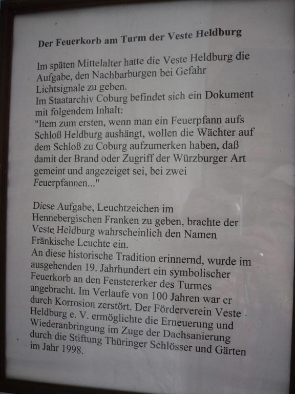 2012.07.04. Heldburg_Thür. Der Feuerkorb