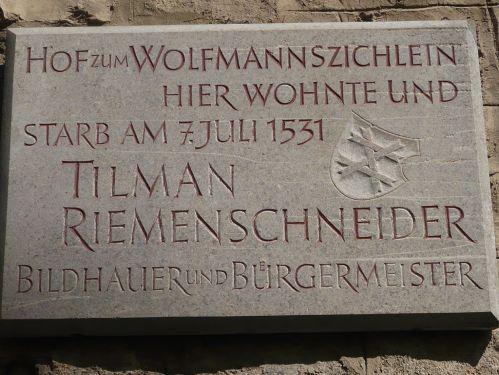 Würzburg 087 - Impressionen - Riemenschneider-Haus