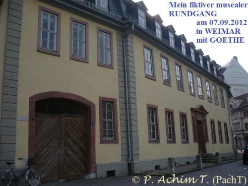 Weimar Fiktiver Rundgang mit Goethe 01