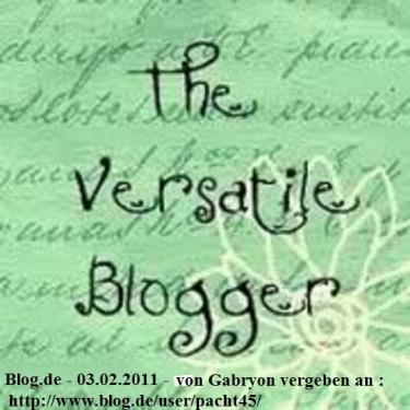 AWARD -Vielseitiger Blogger - 2011