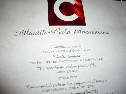 340 6.KSF  ATLANTIK - Gala - ABENDESSEN