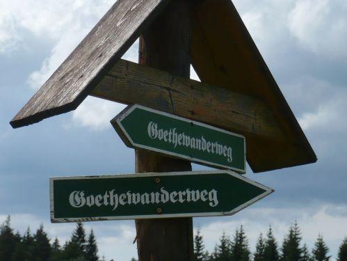 Bad Berka  KneippWanderWeg 21 Goethe-Wegweisung