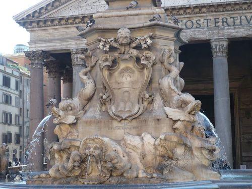 122 ROM Brunnen vorm Pantheon