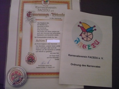 Ernennung in den FaCeDu_NARRENRAT