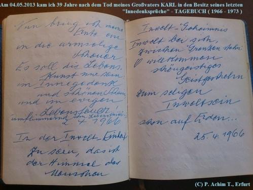 1887 - 1974 Erinnerung an meinen Opa Innedenksprüche Tgb