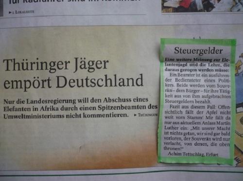 PachT in PresseTA_Leser-Seite 31.01.14_Jagd