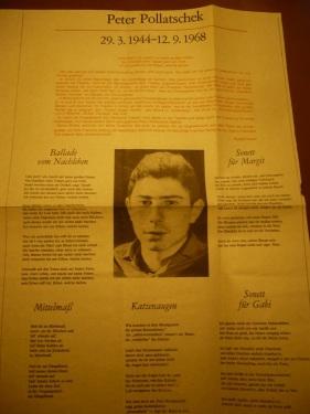 Zum Tod von Peter Pollatschek 1968 _ A