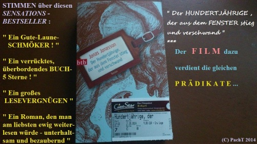 2014 Film Der HUNDERTJÄHRIGE, der ...