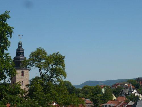 Sondershausen 30 Blick v. Park zur Stadt