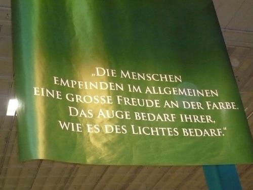 Grüne Woche Goethes Farbenlehre