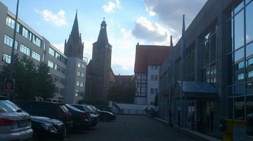 Kaufmännerkirche v. J.-G.-Ring gesehen
