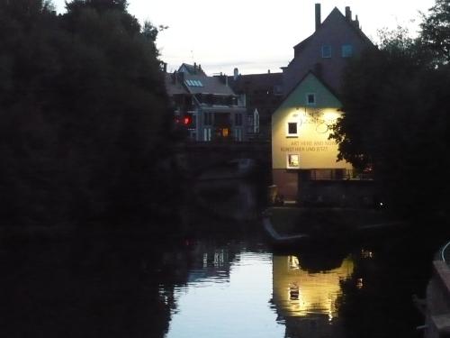 Nürnberg 038 Pegnitz am Abend