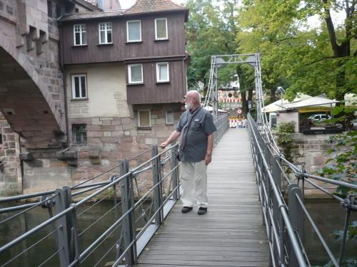 Nürnberg 036 Kettensteg ü. Pegnitz
