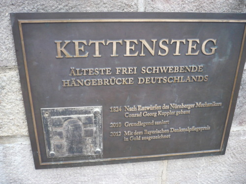 Nürnberg 032 Kettensteg ü. Pegnitz
