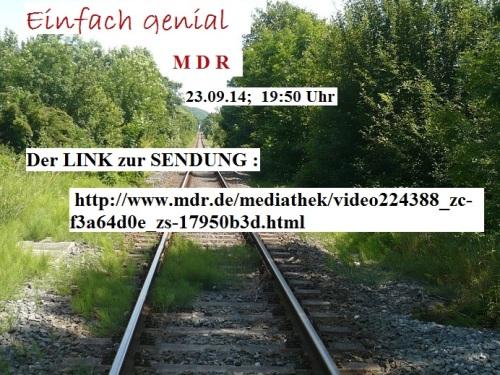 MDR EinfachGenial 23.09.14 H.Popp 1