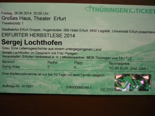 2014 EF Herbstlese_ Lochthofen u. Pleitgen 1 Eintritt