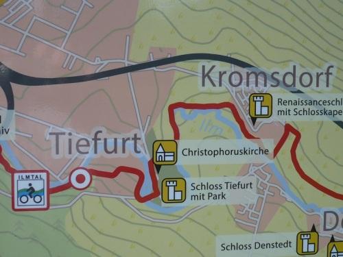 Weimar-Tiefurt 0 Unsere Route