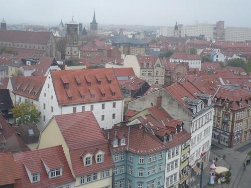 Domplatz Erfurt vom Riesenrad_55m_01