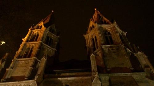 Stadt MÜHLHAUSEN  Divi Blasil Kirche nachts