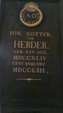 Weimar HerderKirche  Herder-Grabplatte