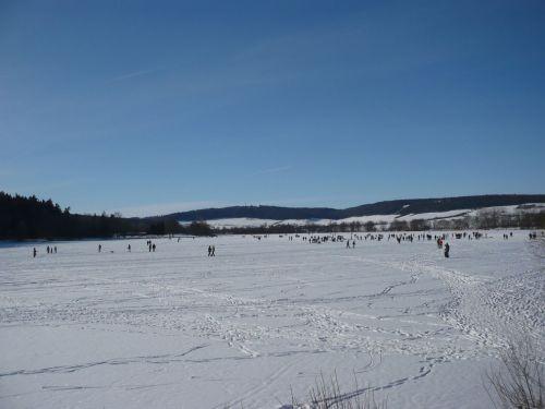 Stausee Hohenfelden im Winter