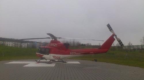 Am Buchenberg Helikopter-Landeplatz am KKH