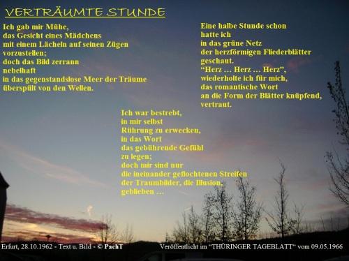 Gedicht im Bild_Verträumte Stunde 1966