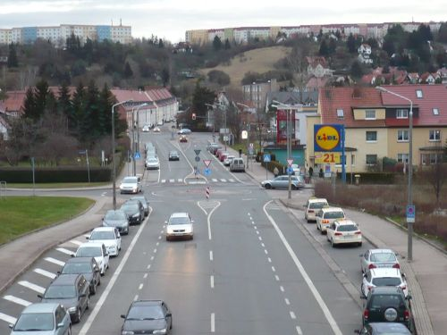 Blücherstraße  Blick zum Wiesenhügel
