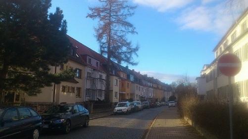 Wetzstraße Ost-west-Blickrichtung