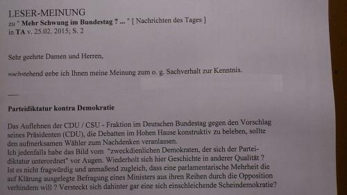 PachT PresseBeitrag TA 2015.02.28 unveröffentl. Reaktion
