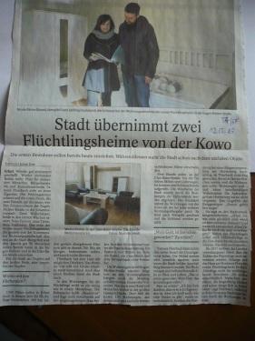 TA-Artikel zu Flüchtlingsheimen